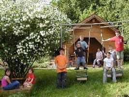 günstiger Familienurlaub Bayern Ferien mit Kindern Spielplatz Bayerischer Wald
