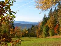 Herbsturlaub Bayerischer Wald Blick vom Kaitersberg